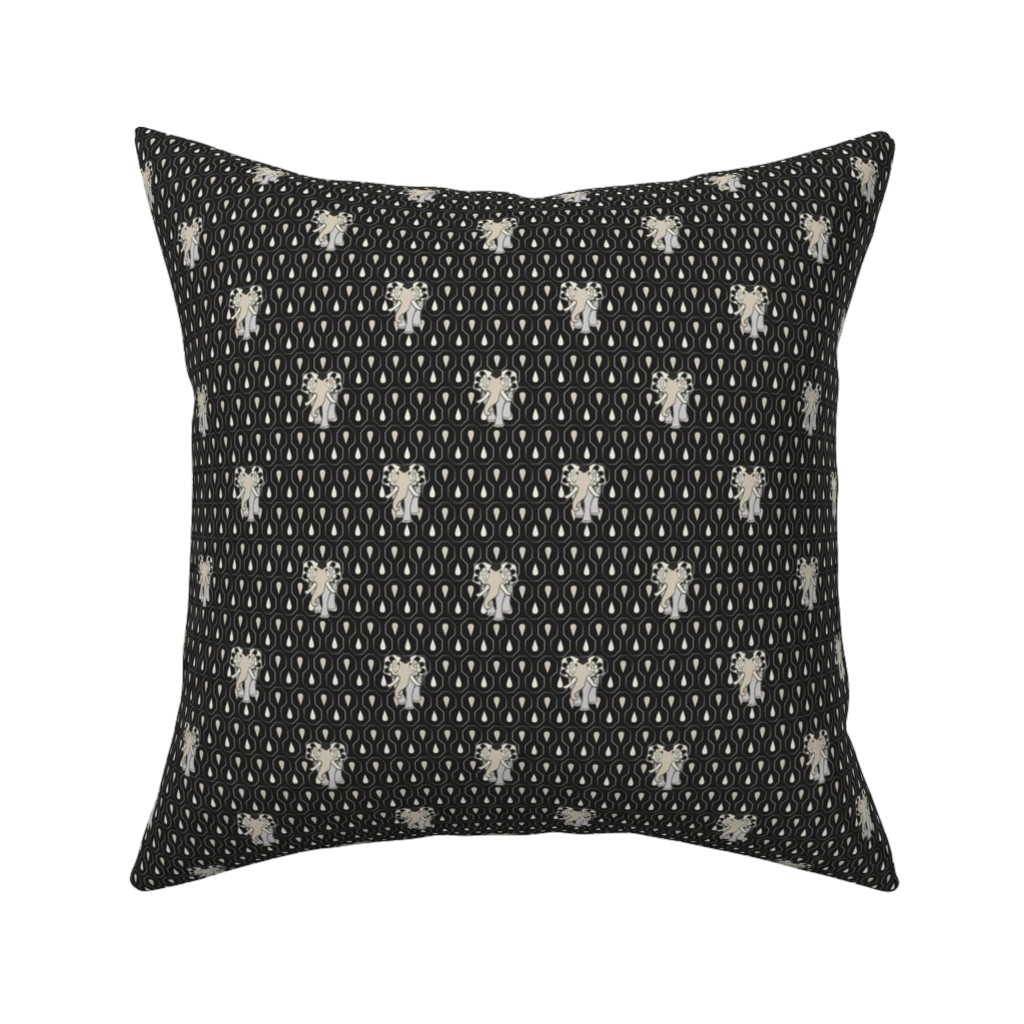 Catalan Throw Pillow featuring Art EleDroplets, black by ejmart