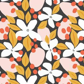 Neptunes Garden | Black Pink Orange + Yellow