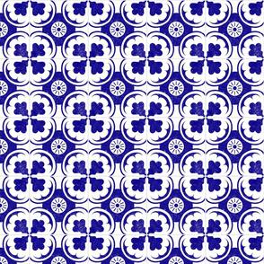 Spanish Tiles in Mediterranean Blue