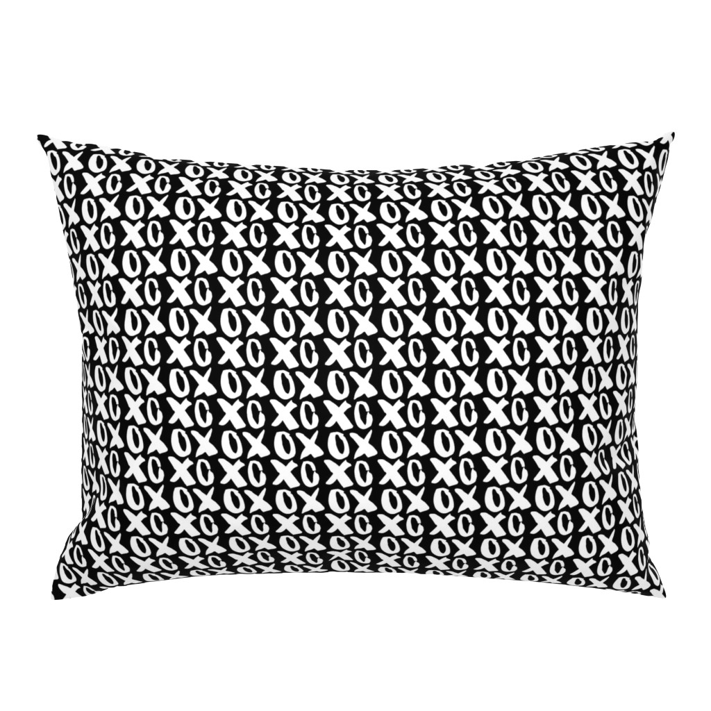 Campine Pillow Sham featuring  Valentine's Day Hugs and Kisses XOs Cute Valentines Day by furbuddy
