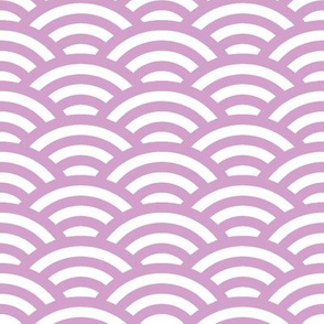 Japanese waves in light orchid and white