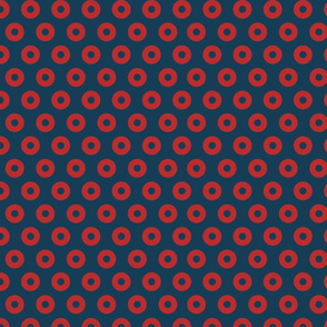 Fishman Donut Fabric One Inch Donuts