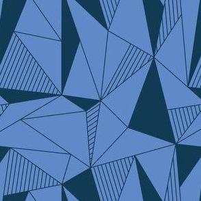 triangle maze blue
