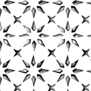 Watercolor Tile Starburst