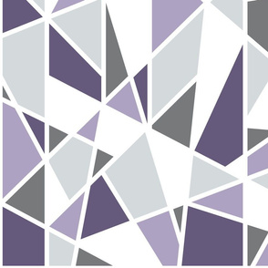 Geometric in Lavender, Purple and Gray