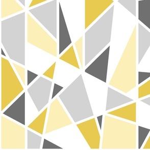 Geometric in Mustard Yellow and Gray