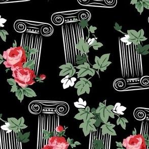 Greek columns - black