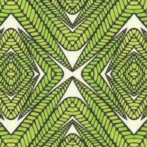 TRIBAL  LEAF GREEN 1
