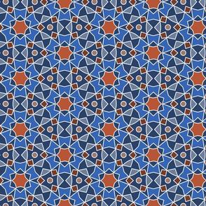 Blue and Terra Cotta Tile