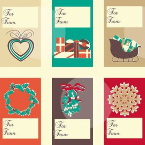 North christmas labels