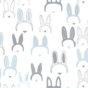 Bunny ears in blue