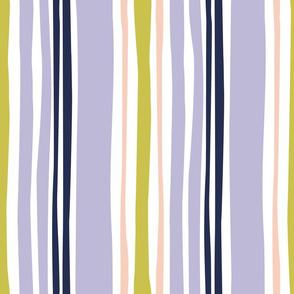 wavy stripe in purple and peach