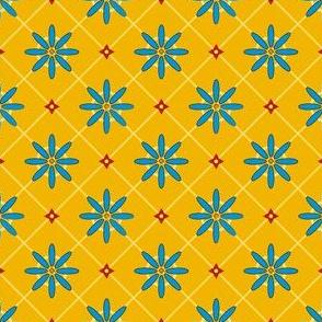 spanish flower tile