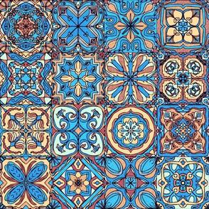 Bright Blue Spanish Tiles