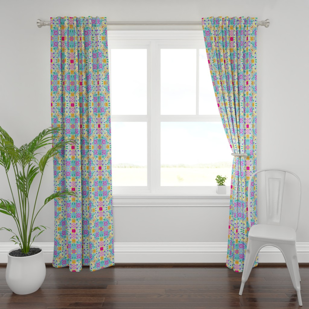 Plymouth Curtain Panel featuring Viertel by ruthjohanna