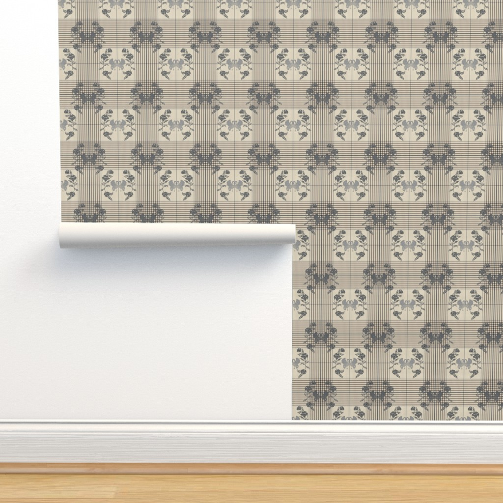 Isobar Durable Wallpaper featuring Art check, silver cloud by ejmart