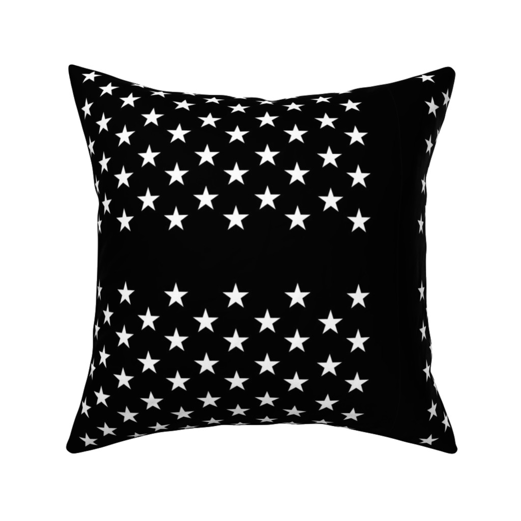 Catalan Throw Pillow featuring Black star field - half size by renee2181