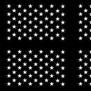 Black star field - half size