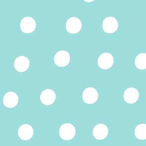 fruity fun dots huge #9EDFDD