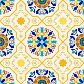 Cheery Modern Moorish Tiles // Bright + Sunny Spanish-inspired Tile Design
