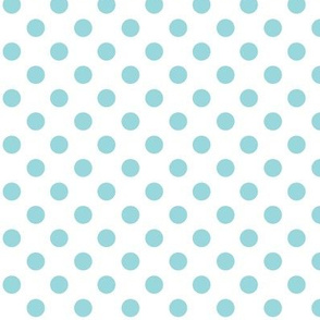 #9AD7DC polka dots