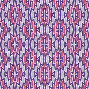 Tribal Diamond Pattern in Violet, Pink and Gray