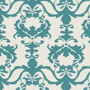 PATIO DAMASK teal