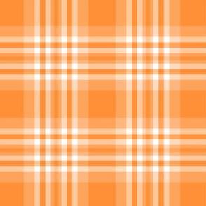 Orange Plaid Gingham Check