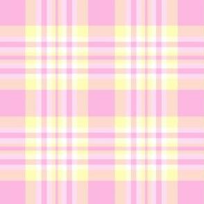 Pink Yellow Plaid Gingham Check