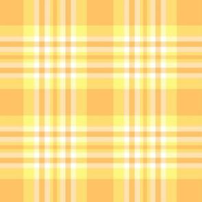 Orange Yellow Plaid Gingham Check