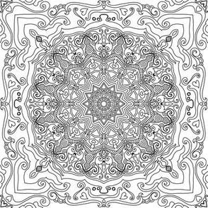 Mandala Project 583 | Black and White   Pattern