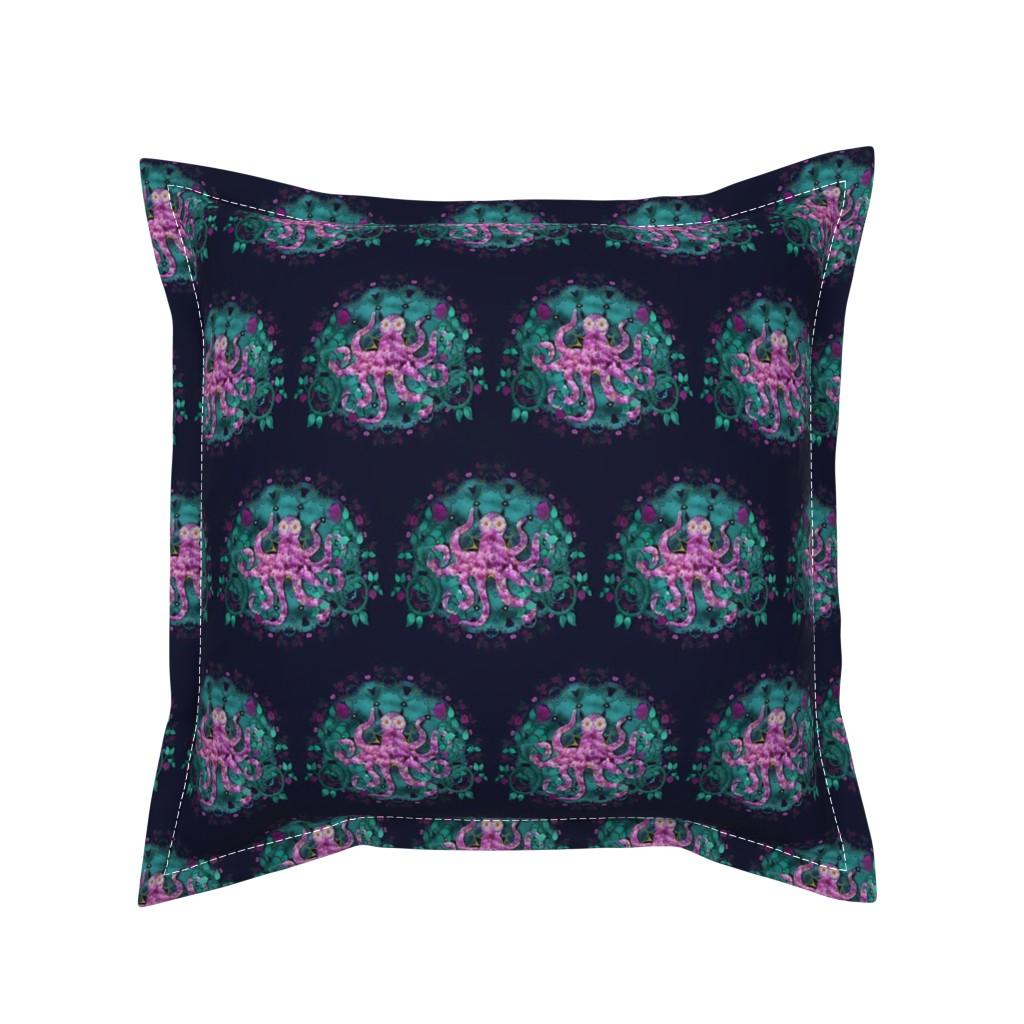 Serama Throw Pillow featuring The Octopus Garden by veata_atticus_store