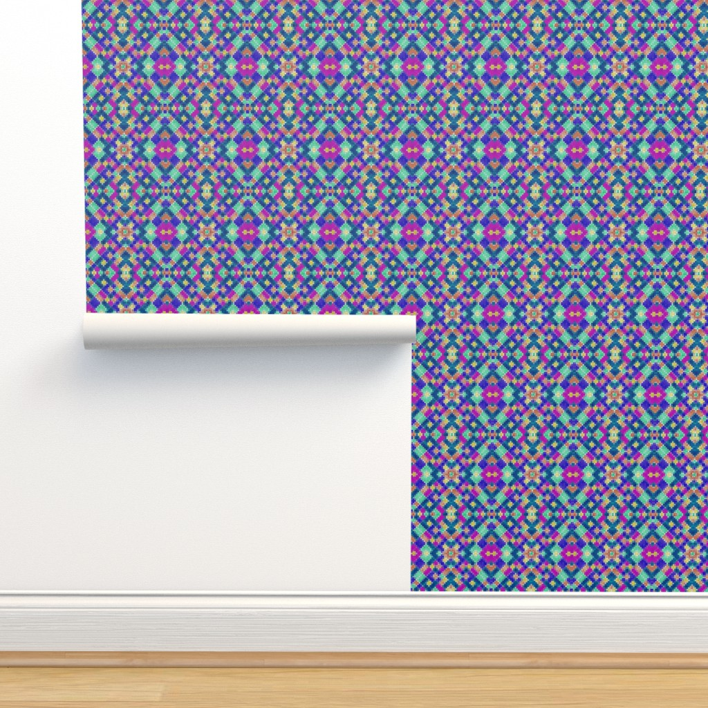 Isobar Durable Wallpaper featuring Boldly Kilim by stephaniecolecreations