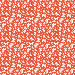 Spattered butterflies on orange