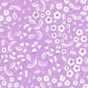 Ditsy Meadow - Purple