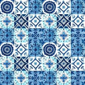 Watercolor Spanish Tiles