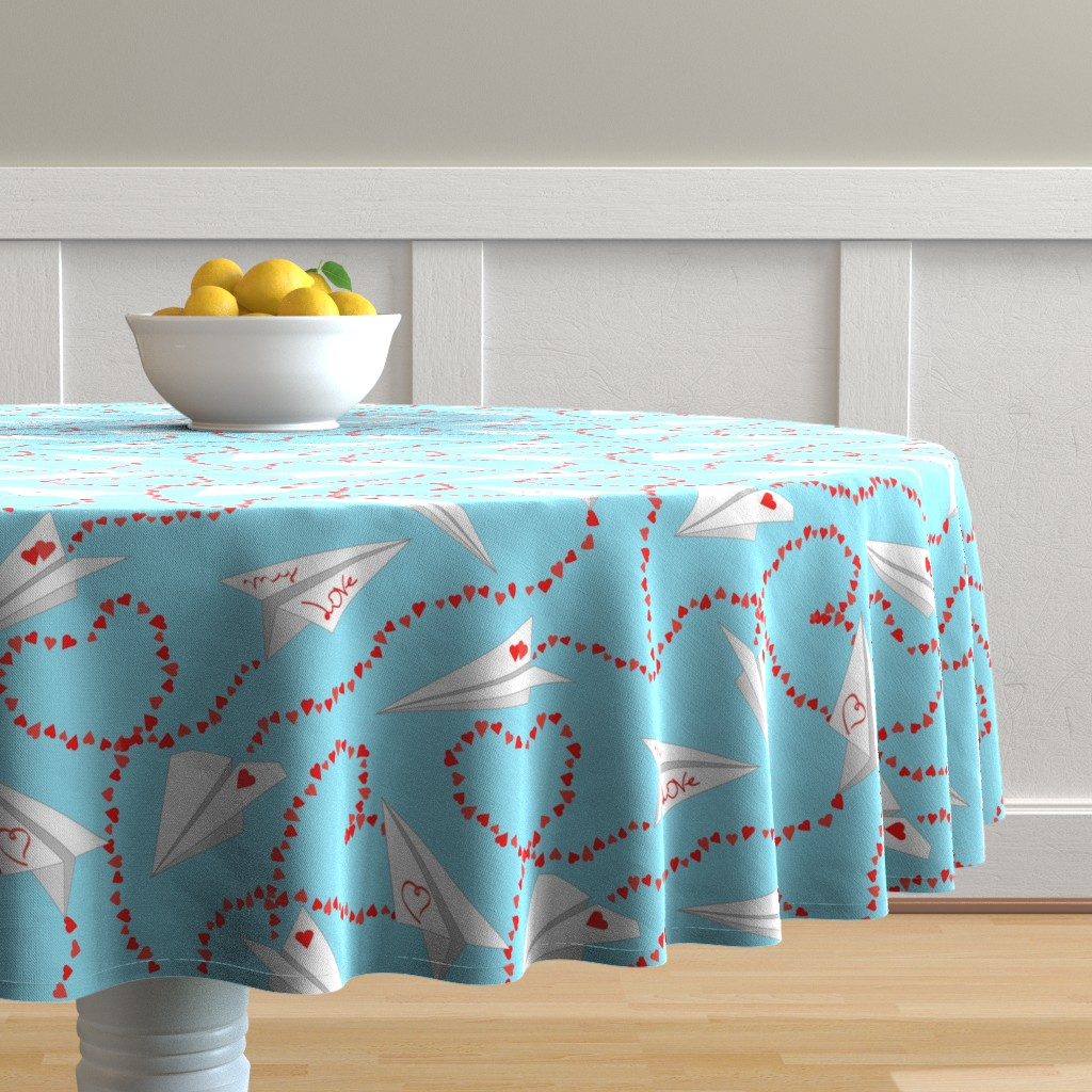 Malay Round Tablecloth featuring valentine by minyanna