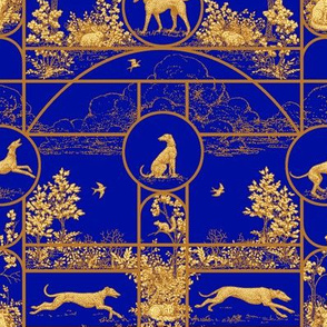 Autumn Blue, Greyhound Toile