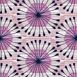 HexBloom (OrchidNavyBurgundy)