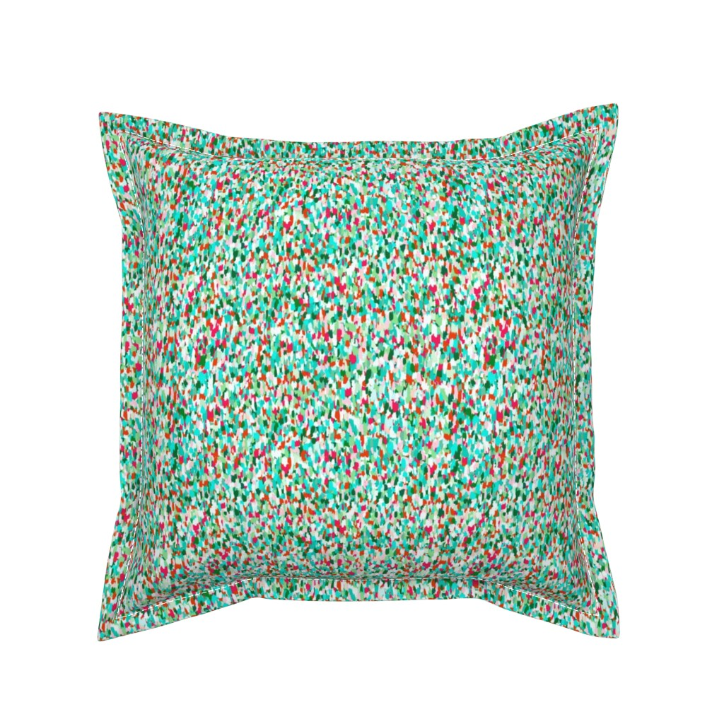 Serama Throw Pillow featuring Moonlit plankton teeming in an iridescent sea by Su_G_©SuSchaefer by su_g