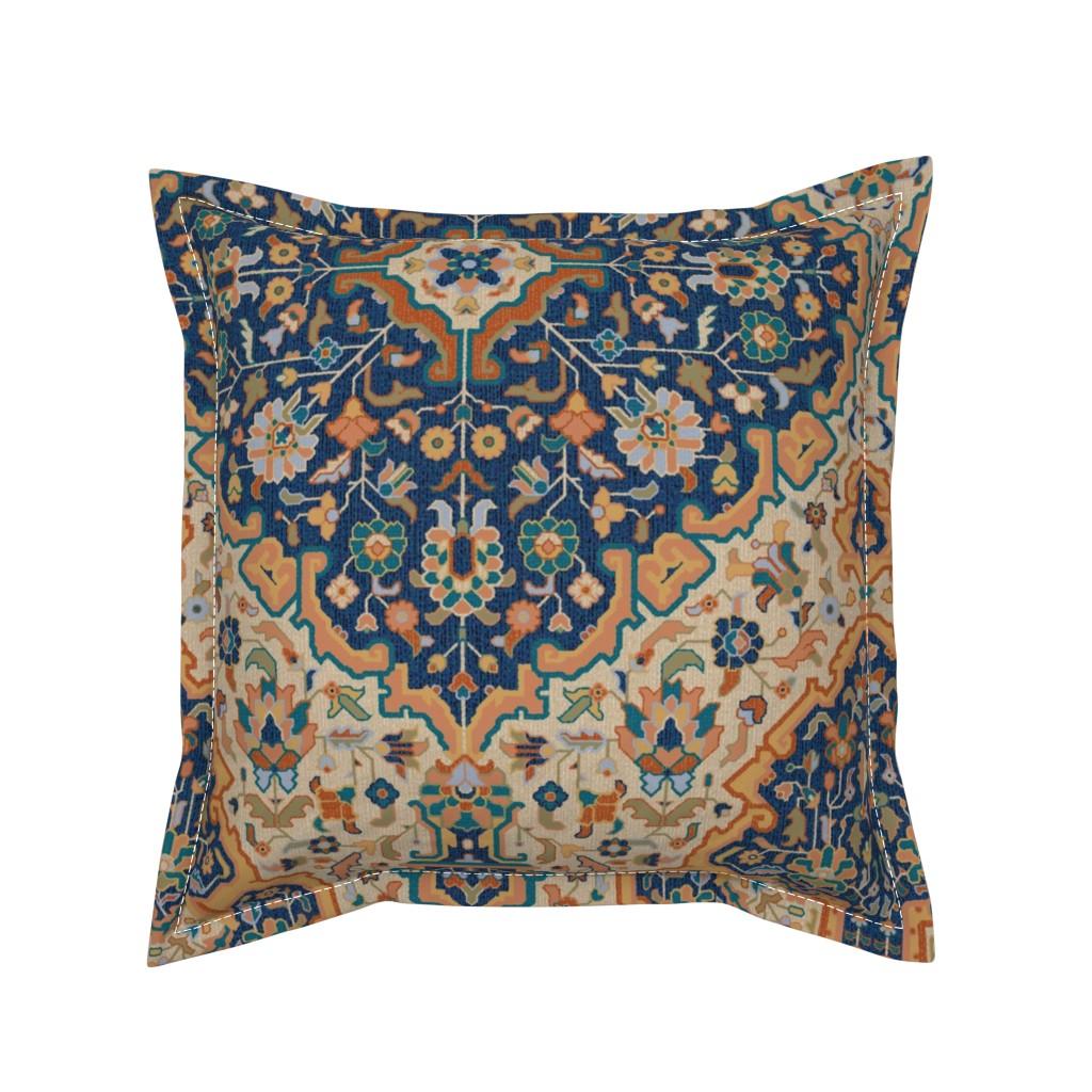 Serama Throw Pillow featuring  Bisāṭ 688c by muhlenkott
