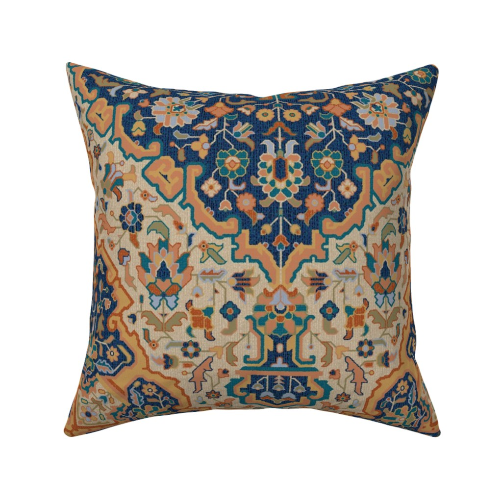 Catalan Throw Pillow featuring  Bisāṭ 688c by muhlenkott