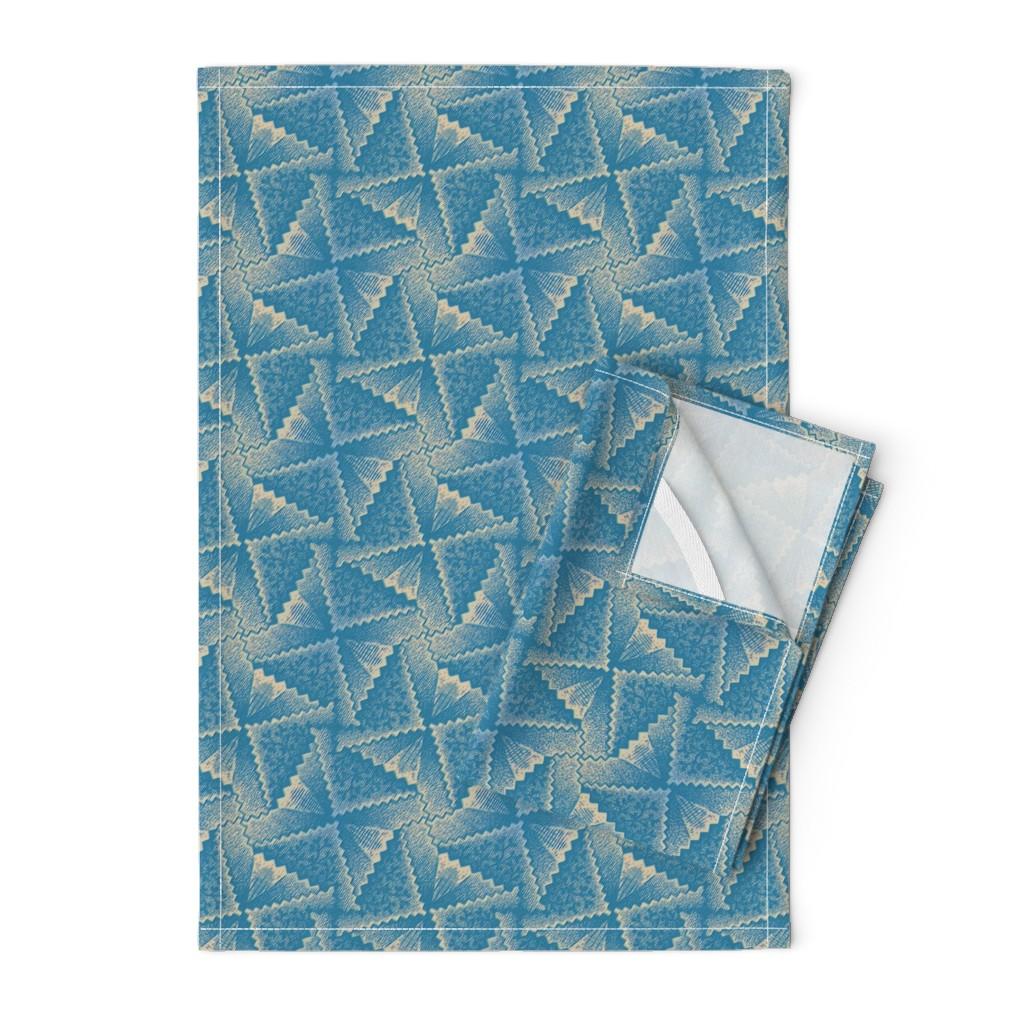 Orpington Tea Towels featuring Æsthetic Fans 1g by muhlenkott