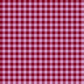 burgundy and orchid gingham