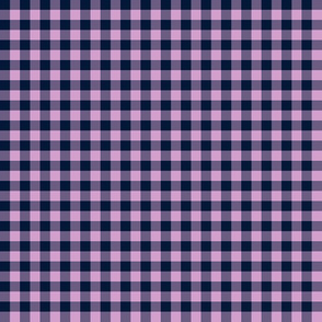 navy and orchid gingham