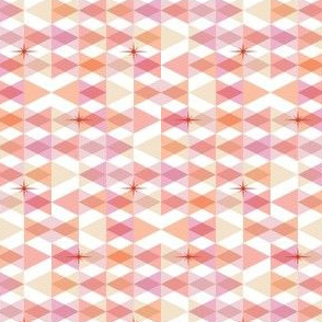 Flags* (Pinks) || triangles chevron geometric star stars starburst atomic transparent translucent overlap direction arrow