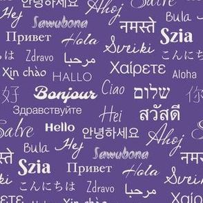 hello Languages violet