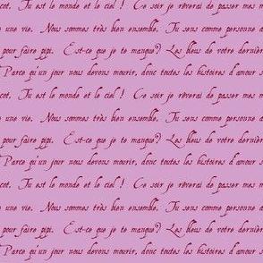 lettre d'amour orchid burgundy petite