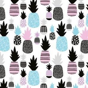 Pastel pink blue tropical hawaiian summer sweet kawaii pineapple fruit for girls SMALL