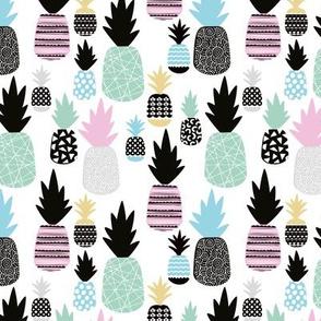 Pastel multi color tropical hawaiian summer sweet kawaii pineapple fruit for girls SMALL